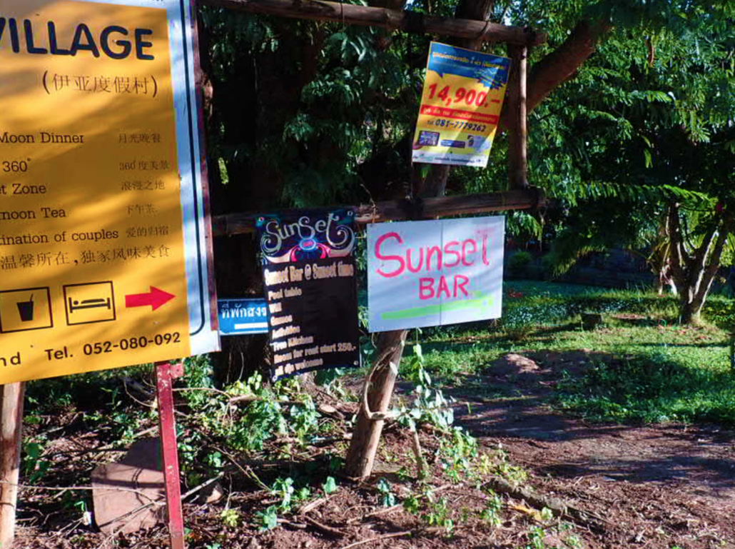 Sunset Bar, Pai Thailand THings to do