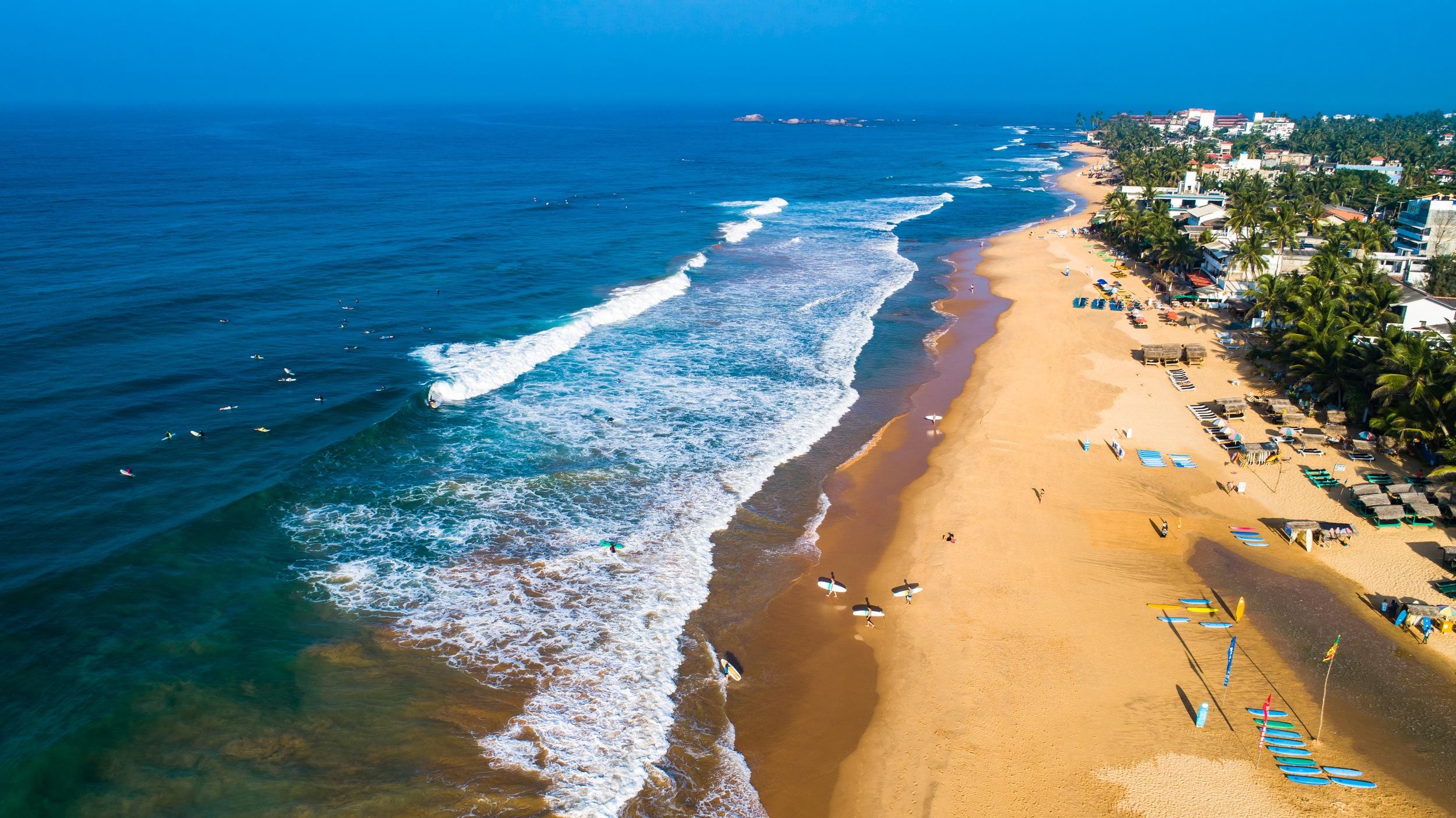Hikkaduwa beach. Sri Lanka.