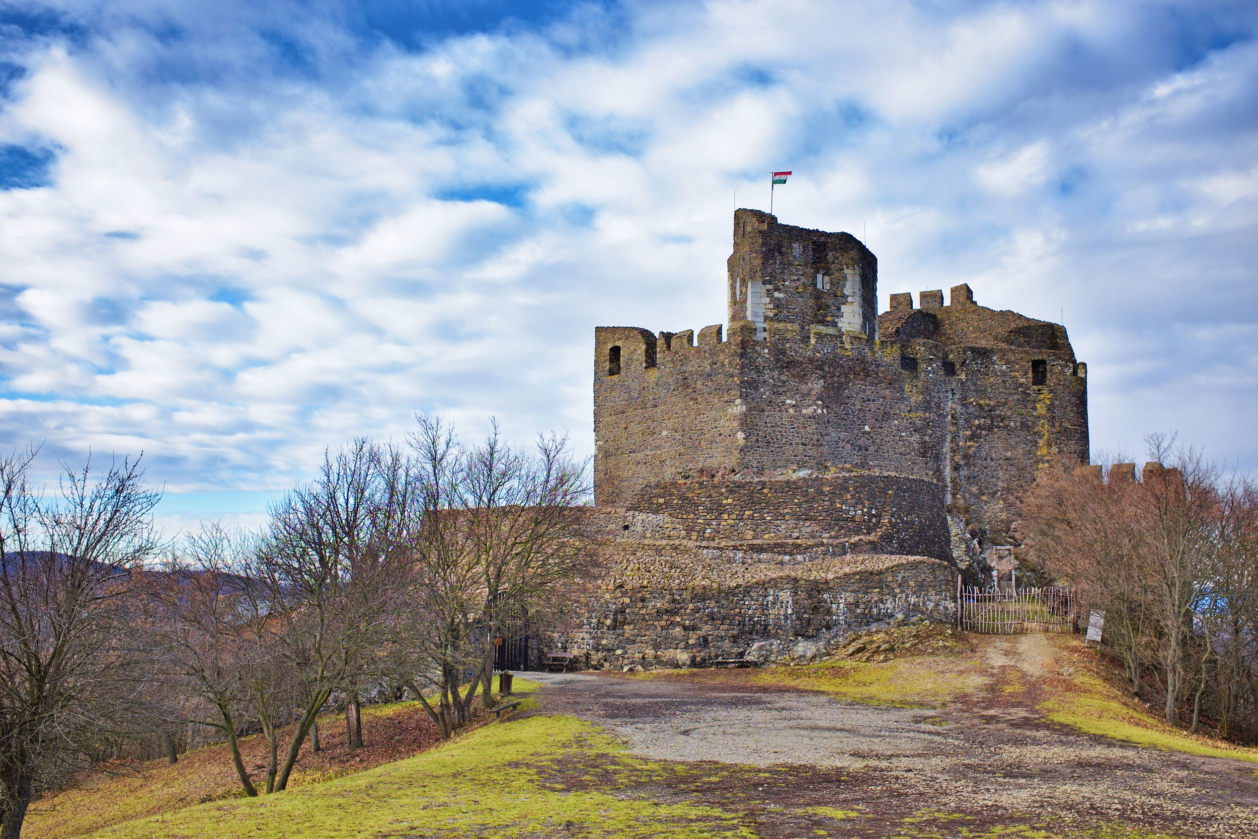 Holloko fortress built in the 13th century in Hungary